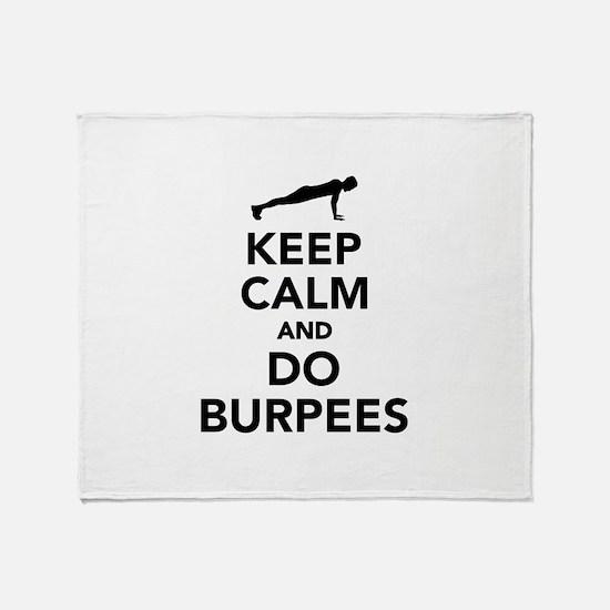 Keep calm and do burpees Throw Blanket