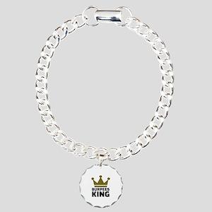 Burpees king Charm Bracelet, One Charm