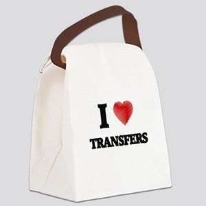I love Transfers Canvas Lunch Bag