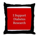 Diabetes Support Throw Pillow