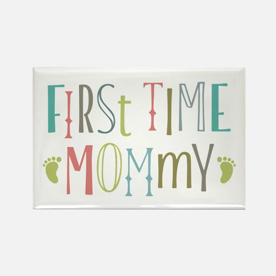 First Time Mommy Rectangle Magnet