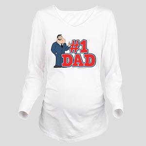 American Dad #1 Dad Long Sleeve Maternity T-Shirt