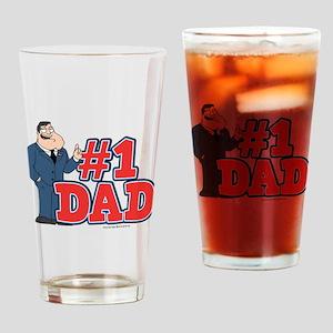 American Dad #1 Dad Drinking Glass