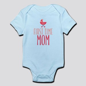 First Time Mom - Pink Infant Bodysuit
