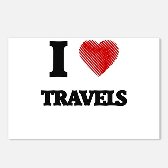 I love Travels Postcards (Package of 8)