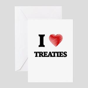 I love Treaties Greeting Cards