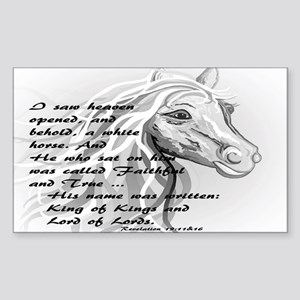 White Horse of a King Sticker