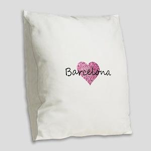 Barcelona Burlap Throw Pillow