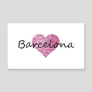 Barcelona Rectangle Car Magnet