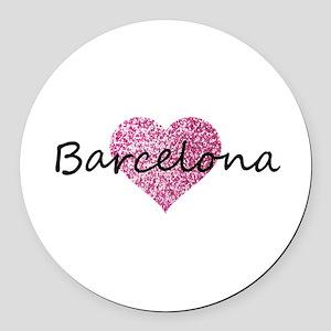 Barcelona Round Car Magnet