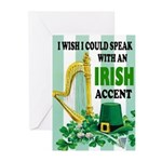 IRISH ACCENT Greeting Cards
