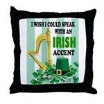 IRISH ACCENT Throw Pillow
