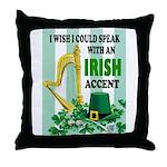 IRISH ACCENT Throw Pillow