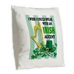 IRISH ACCENT Burlap Throw Pillow