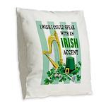 IRISH ACCENT Burlap Throw Pillow