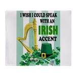 IRISH ACCENT Throw Blanket