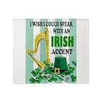 IRISH ACCENT Throw Blanket