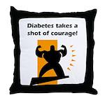 Diabetes Courage Throw Pillow