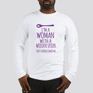 Woman With a Wooden Spoon Long Sleeve T-Shirt
