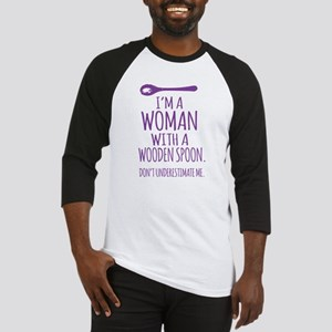 Woman With a Wooden Spoon Baseball Jersey