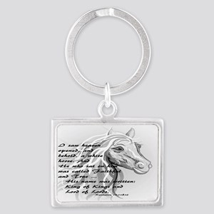 White Horse of a King Keychains