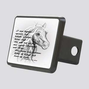 White Horse of a King Rectangular Hitch Cover