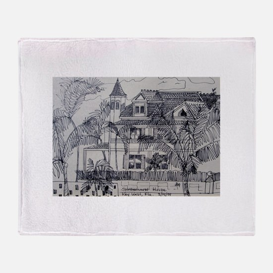 Southernmost House - Key West, Fla. Throw Blanket
