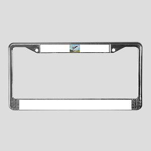 Border collie angel License Plate Frame