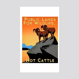 Public Lands For Wildlife…Not Cattle Sticker