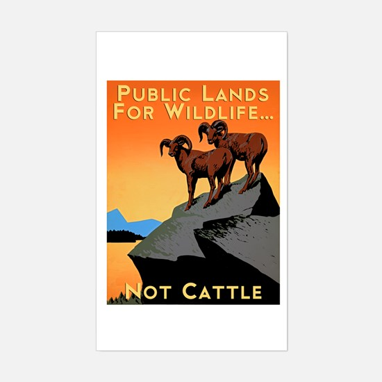 Public Lands For Wildlife…Not Cattle Decal