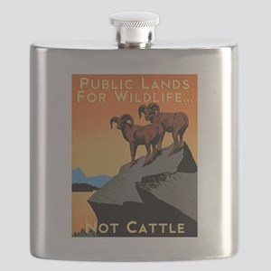 Public Lands For Wildlife…Not Cattle Flask
