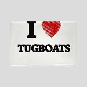 I love Tugboats Magnets