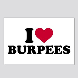 I love Burpees Postcards (Package of 8)
