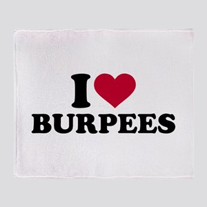 I love Burpees Throw Blanket