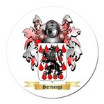 Scrivings Round Car Magnet