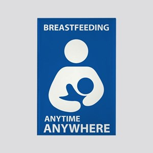 Breastfeeding Anytime Anywhere Rectangle Magnet