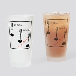 Three Mikes Drinking Glass