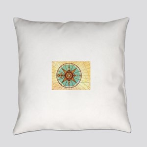 Antique Compass Rose Everyday Pillow
