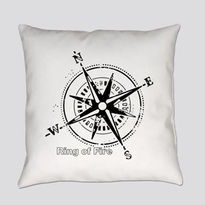 Ring of Fire Graphic Compass Everyday Pillow