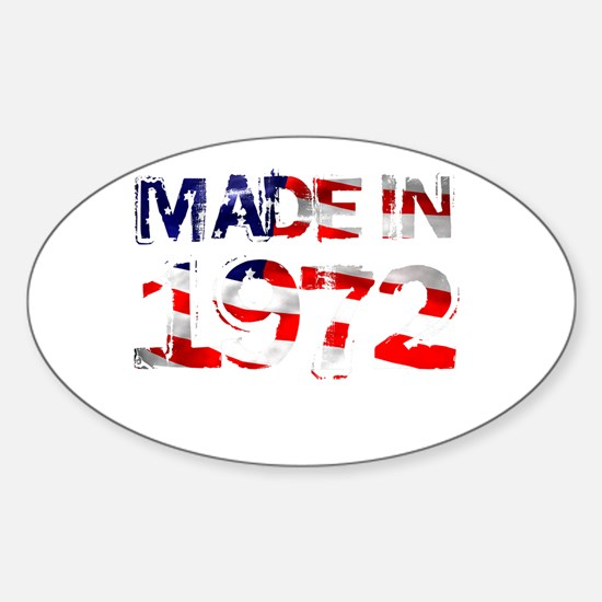 Made In USA 1972 Oval Decal