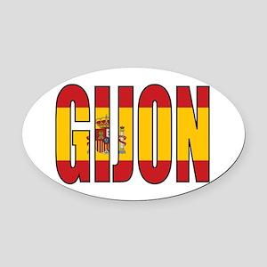 Gijon Oval Car Magnet