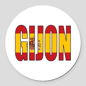 Gijon Round Car Magnet