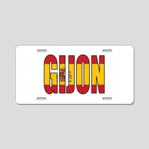 Gijon Aluminum License Plate