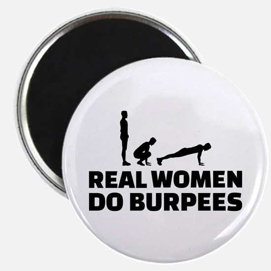 "Real women do burpees 2.25"" Magnet (10 pack)"