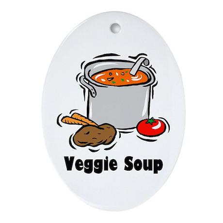 Veggie Soup Oval Ornament