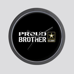 U.S. Army: Proud Brother (Black) Wall Clock