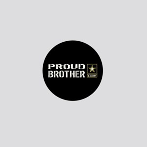 U.S. Army: Proud Brother (Black) Mini Button