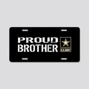 U.S. Army: Proud Brother (B Aluminum License Plate
