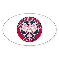Polish Texan Pride Oval Sticker