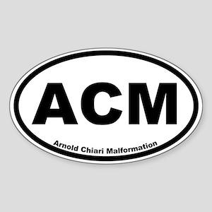 Arnold Chiari Malformation Oval Sticker